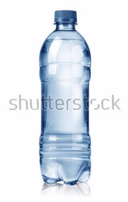 Clear blue water bottle